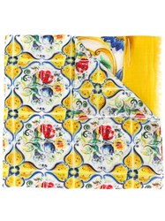 Dolce And Gabbana Majolica Print Scarf Multicolour