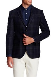 Singer Sargent Long Sleeve Plaid Check Blazer Blue