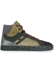 Hogan Rebel Hi Top Sneakers Green