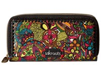 Sakroots Artist Circle Double Zip Wallet Rainbow Spirit Desert Wallet Handbags Multi