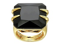 Vince Camuto Square Stone Ring Gold Black Ring