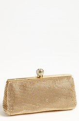 Whiting And Davis 'Crystal' Mesh Clutch