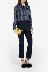 Rodebjer Vanessa Floral Print Blouse Black