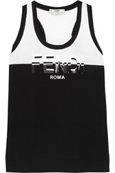 Fendi Printed Cotton Jersey Tank