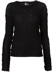 Lost And Found Mesh Longsleeve T Shirt Black