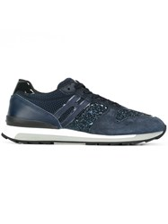 Hogan Rebel Panelled Sneakers Blue