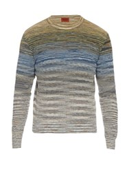 Missoni Knitted Crew Neck Sweater Green Multi