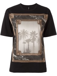 Versus Printed T Shirt Black