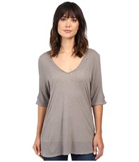 Project Social T Taylor Cold Shoulder Ash Women's Clothing Gray