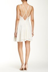 Romeo And Juliet Couture Lace Strappy Back Dress White