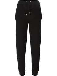 Moschino Logo Stitched Track Pant Black