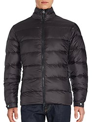 Saks Fifth Avenue Moto Down Quilted Jacket Black