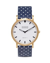 Shore Projects Portland Ocean Polka Dot Watch 39Mm White