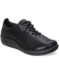 Clarks Collection Women's Cloud Steppers Sillian Tino Sneakers Women's Shoes Black Lizard