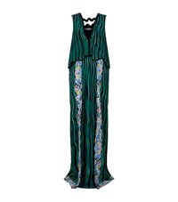 Mary Katrantzou Fairburn Wave Print Gown Female Green