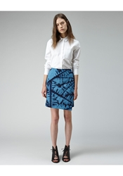 Boy By Band Of Outsiders Quilted Shibori Skirt Blue