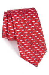 Vineyard Vines Men's Sailfish Silk Tie Red