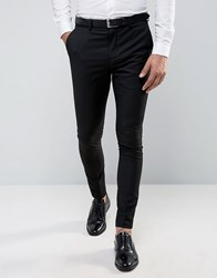 Selected Homme Super Skinny Tuxedo Suit Trousers Black