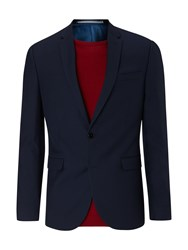 Burton Essential Slim Fit Suit Jacket Navy