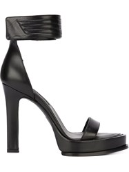 Ann Demeulemeester Ankle Cuff Sandals Black