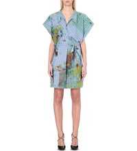 Anglomania Paint Stroke Cotton Blend Dress Multi