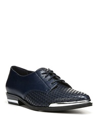 Fergie Invert Leather Oxfords Navy Blue