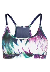 Roxy Werk Sports Bra Sea Salt Jungle Times Blue