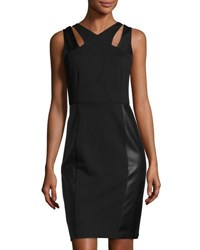 Laundry By Shelli Segal Sleeveless Sheath Dress With Cutouts Black