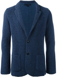 Lardini Tweed Blazer Blue
