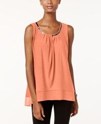 Alfani Petite Embellished Layered Look Top Only At Macy's Lobster Bisque