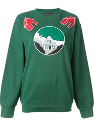 Andrea Incontri Embroidered Patch Sweatshirt Green