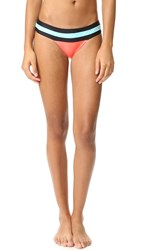 Pilyq Banded Colorblock Bottoms Coral