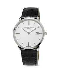 Frederique Constant Classics Slimline Quartz Watch 39Mm White Black