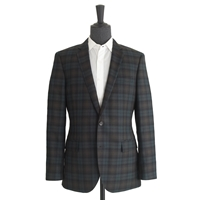 J.Crew Ludlow Suit Jacket In Black Watch English Wool Olive Blackwatch