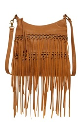 Carlos Santana Julietta Fringe Crossbody Messenger Brown
