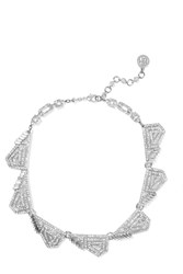 Ben Amun Silver Tone Crystal Necklace Metallic