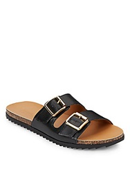 Kenneth Cole Reaction Faux Leather Sandals Black