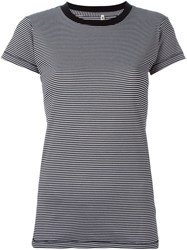 R 13 R13 Striped T Shirt Black