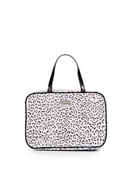 Saks Fifth Avenue Large Leopard Print Hanging Cosmetics Bag