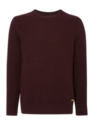 Army And Navy Plain Crew Neck Pull Over Jumpers Claret