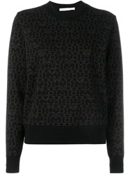 Givenchy Star Logo Print Sweater Black
