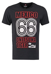 Onitsuka Tiger By Asics Onitsuka Tiger Print Tshirt Performance Black