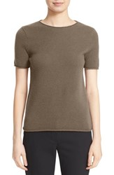 Theory Women's 'Tolleree' Short Sleeve Cashmere Pullover Chicory