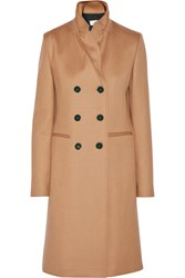 Victoria Beckham Double Breasted Wool Coat Nude