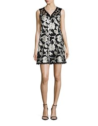 Nanette Lepore Floral Sequin Dress Black