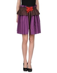 Jejia Knee Length Skirts Purple