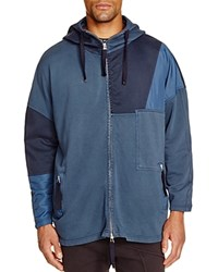Blood Brother Patchwork Hooded Jacket Navy