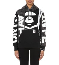 Aape By A Bathing Ape Graphic Print Jersey Hoody Black