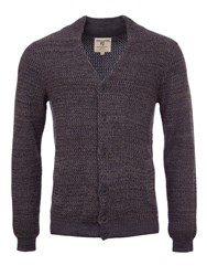 Garcia Men's Chunky Knit Cardigan Navy