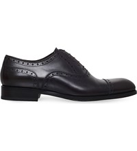 Tom Ford Edward Leather Oxford Shoes Brown